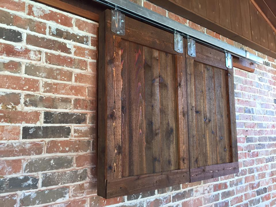 outdoor tv enclosure wood cabinet barn door style diy